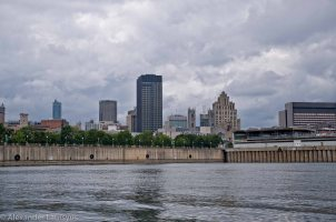 View of Montreal from the Rever